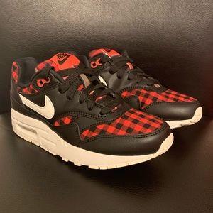 Nike Kids Air Max 1 SE (GS) Black Red White Shoes